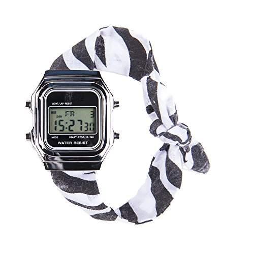 Rich Gone Broke DLSbr-Armbanduhr Analog Digital-Stoff-silber