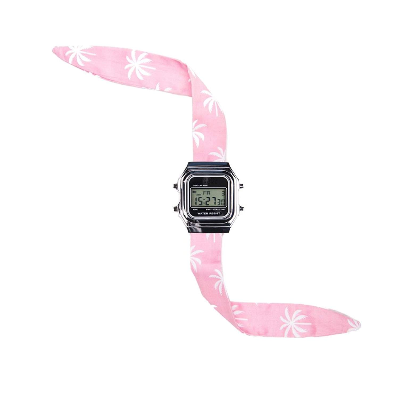 Rich Gone Broke DLSbu-Digital-Armbanduhr-Armband Silber rot