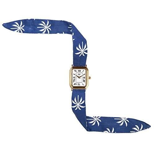Broke-Rich Gone GoldDistrictRio-Armbanduhr Quarz analog Stoff, Schwarz