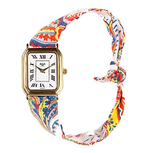 Broke-Rich Gone GoldDistrictTeheran-Armbanduhr Quarz analog Stoff, mehrfarbig