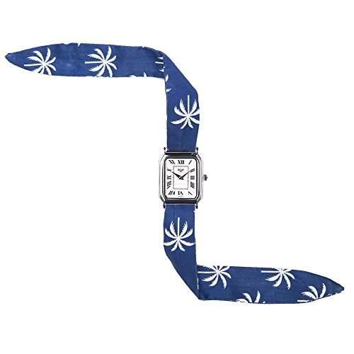 Broke-Rich Gone SilverDistrictRio-Armbanduhr Quarz analog Stoff, Schwarz