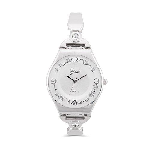 YAKI Luxus Analog Quarz Uhr Weiss Armband 955 6W