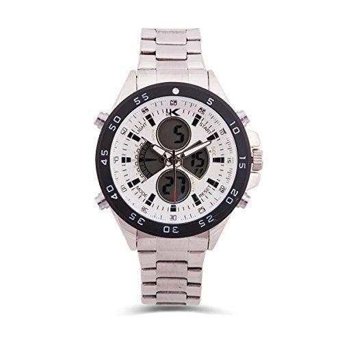 YAKI Armbanduhr Herrenarmbanduhr Analog Digital Quarz Uhr Weiss 720 W