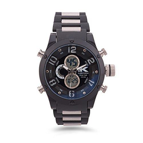 YAKI Armbanduhr Herrenarmbanduhr Analog Digital Quarz Uhr 1503 BLA