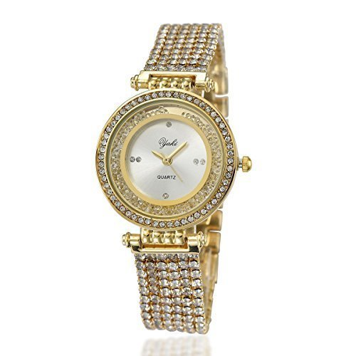 YAKI Elegant Ladies Analog Quarz Uhr Legierung 8008 G