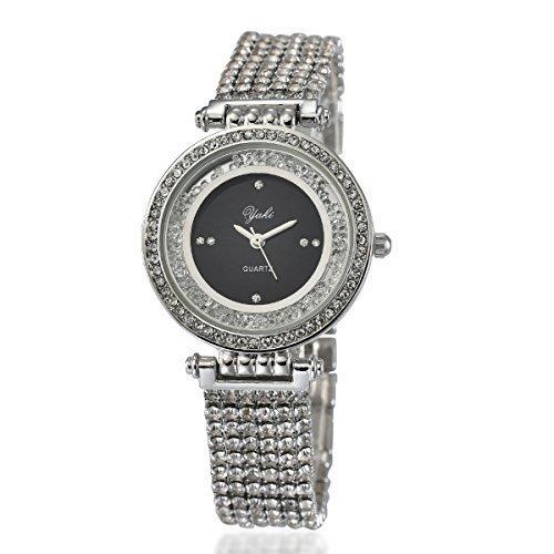 YAKI Elegant Ladies Analog Quarz Uhr Legierung 8008 B