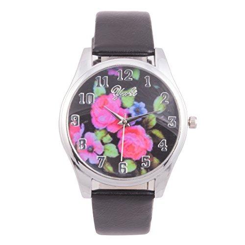 YAKI Fashion Analog Quarz Uhr Schwarz CTH8016 BLK