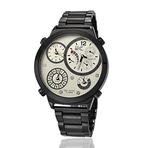 YAKI Analog Quarz Uhr 4 Time Zone 721 B