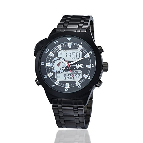 YAKI Herren Armbanduhr Herrenuhr Analog Digital Quarz Uhr Weiss 1040 W