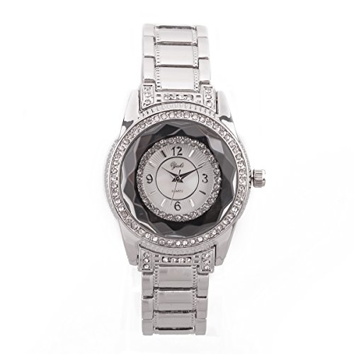 YAKI Fashion Luxusuhren Damenuhren Armbanduhr Analog Quarz Uhren Uhr Damen Weiss Armband Weiss Zifferblatt SL8450 W