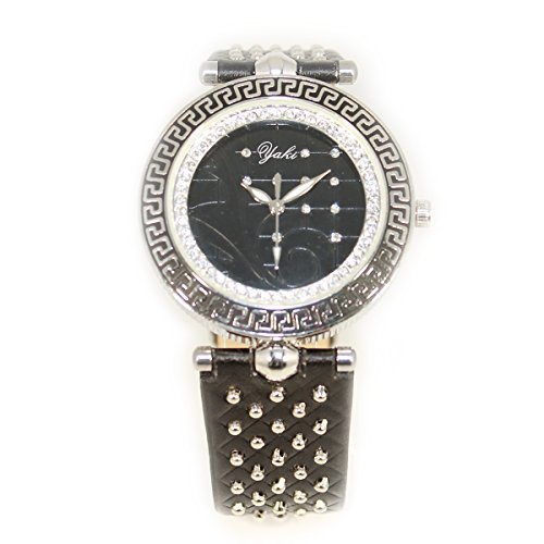 YAKI Design Uhren Modeuhr Analog Quarz Uhr Damenarmbanduhr Schwarz CTC1348 B