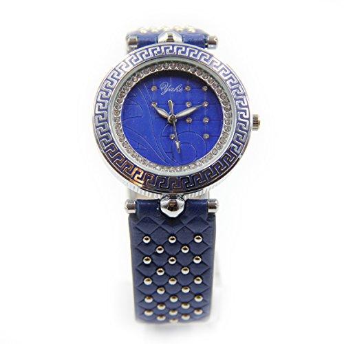 YAKI Design Uhren Modeuhr Analog Quarz Uhr Weiss CTC1348 BL
