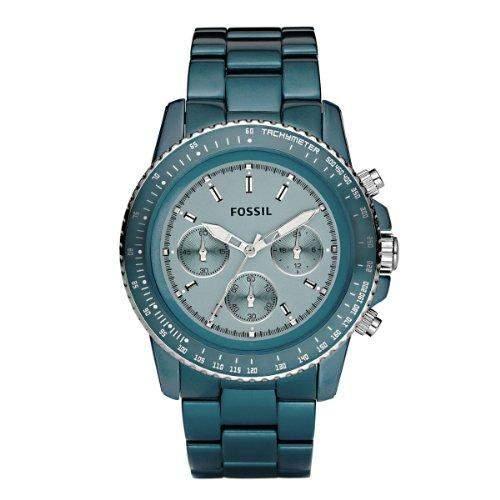 Fossil Damen-Uhren Chronograph Sport Aluminium Tuerkis CH2706