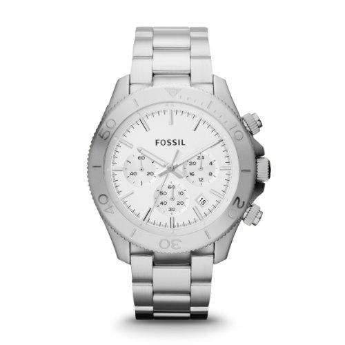 Fossil Herren-Armbanduhr XL Chronograph Quarz Edelstahl CH2847