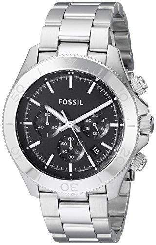 Fossil Herren-Armbanduhr XL Chronograph Quarz Edelstahl CH2848