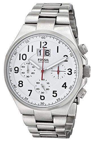 Fossil Herren-Armbanduhr XL Qualifier Chronograph Quarz Edelstahl CH2903
