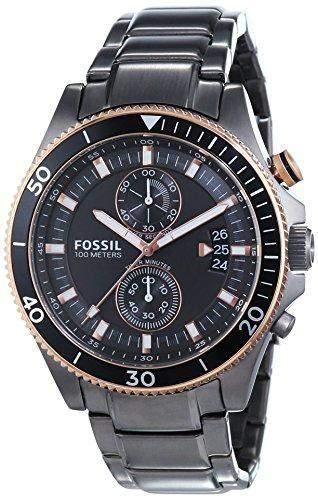 Fossil Herren-Armbanduhr XL Chronograph Quarz Edelstahl CH2948
