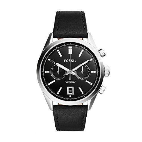 Fossil Herren-Armbanduhr Chronograph Quarz Leder CH2972
