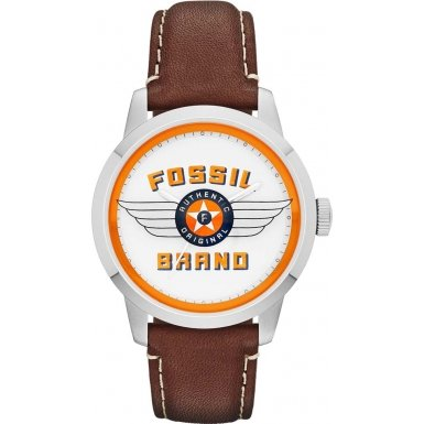Fossil FS4896 Mens Townsman Brown Leather Strap Watch