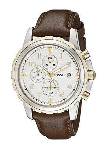 Fossil Herren-Armbanduhr XL Chronograph Quarz Leder FS4788