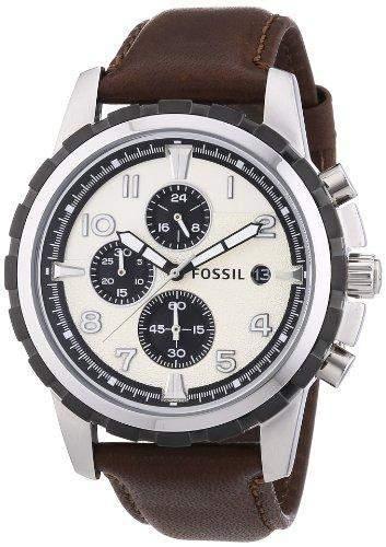 fossil herren armbanduhr xl chronograph quarz leder fs4829. Black Bedroom Furniture Sets. Home Design Ideas