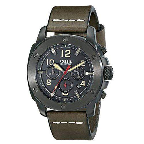 Fossil Herren-Armbanduhr XL Chronograph Quarz Leder FS5000