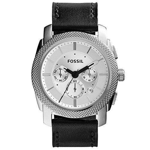 Fossil Herren-Armbanduhr Chronograph Quarz Leder FS5038