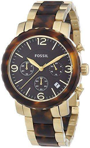 Fossil Damen-Armbanduhr Natalie Bicolor Chronograph Quarz JR1382