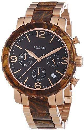 Fossil Damen-Armbanduhr Natalie Bicolor Chronograph Quarz JR1385