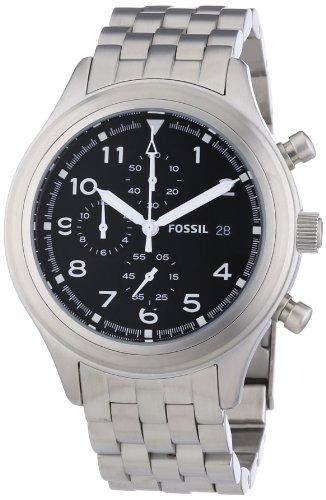 Fossil Herren-Armbanduhr Chronograph Quarz Edelstahl JR1431
