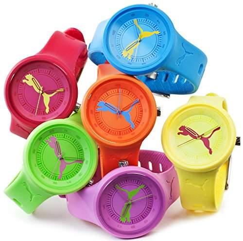 Puma Kinderuhr Silikon Armbanduhr Sommer in Gelb