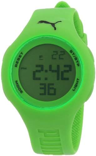 Puma Damen-Armbanduhr Digital Loop Neon Green Quarz APU910801003