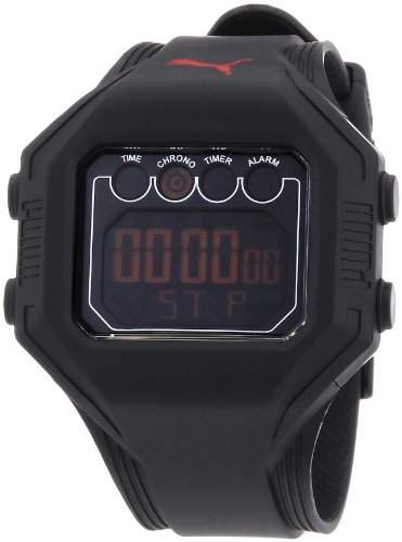 Puma Time Active Herren-Armbanduhr Digital Bounce- L Black Quarz APU910771002