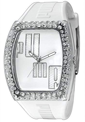 Puma Time Damen-Armbanduhr Drama Injection White - Stones Analog Quarz Kautschuk PU910712001