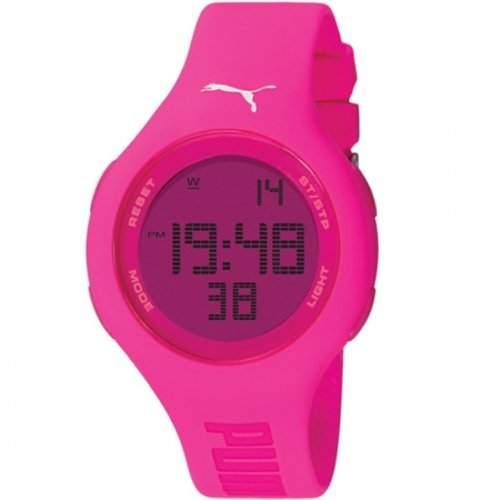 Puma Damen-Armbanduhr Digital Loop Neon Pink Quarz APU910801002