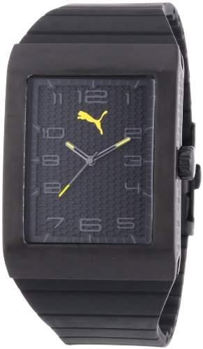 Puma Time Herren-Armbanduhr Oxygen Black Analog Quarz Plastik PU102761003