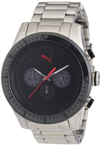 Puma Herren-Armbanduhr Fast Track Chronograph Quarz Edelstahl PU102821004