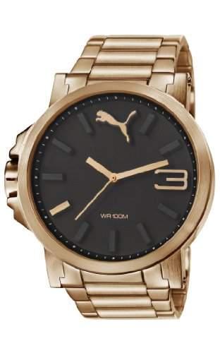 Puma Herren-Armbanduhr XL Ultrasize Analog Quarz Edelstahl beschichtet PU103461007
