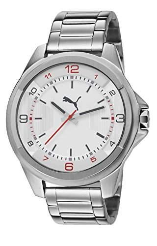 Puma Herren-Armbanduhr XL Theme Analog Quarz Edelstahl PU103511002