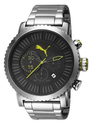 Puma Herren-Armbanduhr XL Popular Chronograph Quarz Edelstahl PU103521001