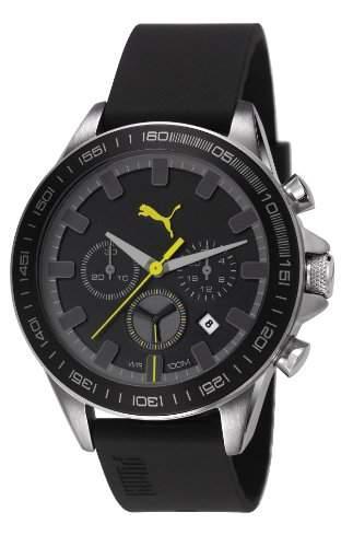 PUMA unisex-Armbanduhr Cyclone Chronograph Quarz Kunststoff PU103621003