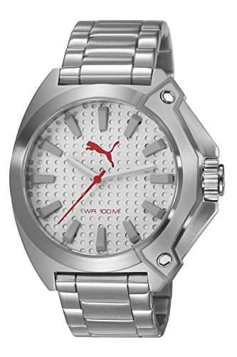 Zone Puma Unisex Armbanduhr Analog Edelstahl silber Armband PU103811005