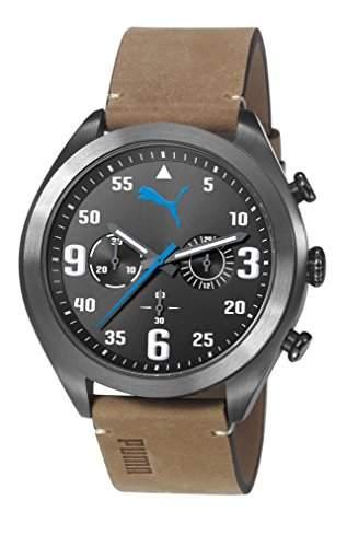 Puma Tasche Fame Unisex Armbanduhr Chronograph Leder braun PU103871003