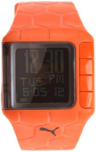 Puma Herren-Armbanduhr Digital Plastik orange Orange