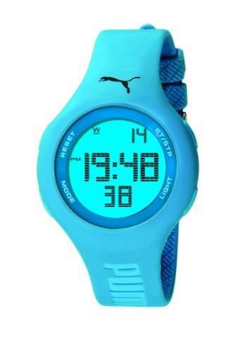 Puma Damen-Armbanduhr Digital Loop Neon Blue Quarz APU910801001