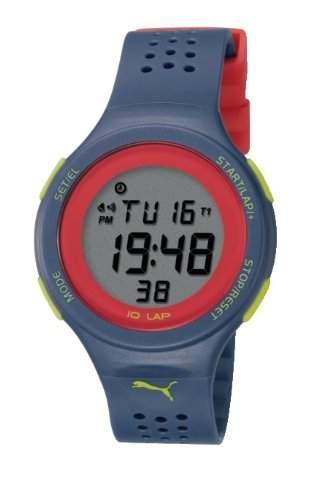 Puma Time Damen-Armbanduhr XL Faas 200 Purple Digital Quarz Plastik PU910931007