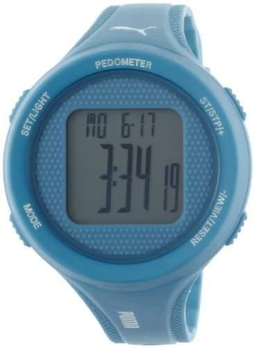 Puma Time Damen-Armbanduhr XL Step blue Digital Quarz Plastik PU911042005