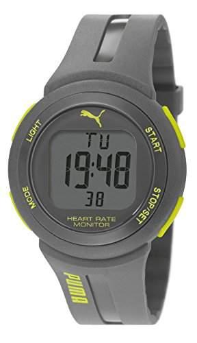 Pulse Plus Puma Unisex-Armbanduhr Digital-Anzeige und Grau PU Strap PU911101005