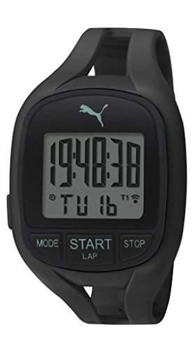 Puma Air II Unisex Digital Uhr mit LCD Dial Digital Display und schwarz PU Gurt pu911141001