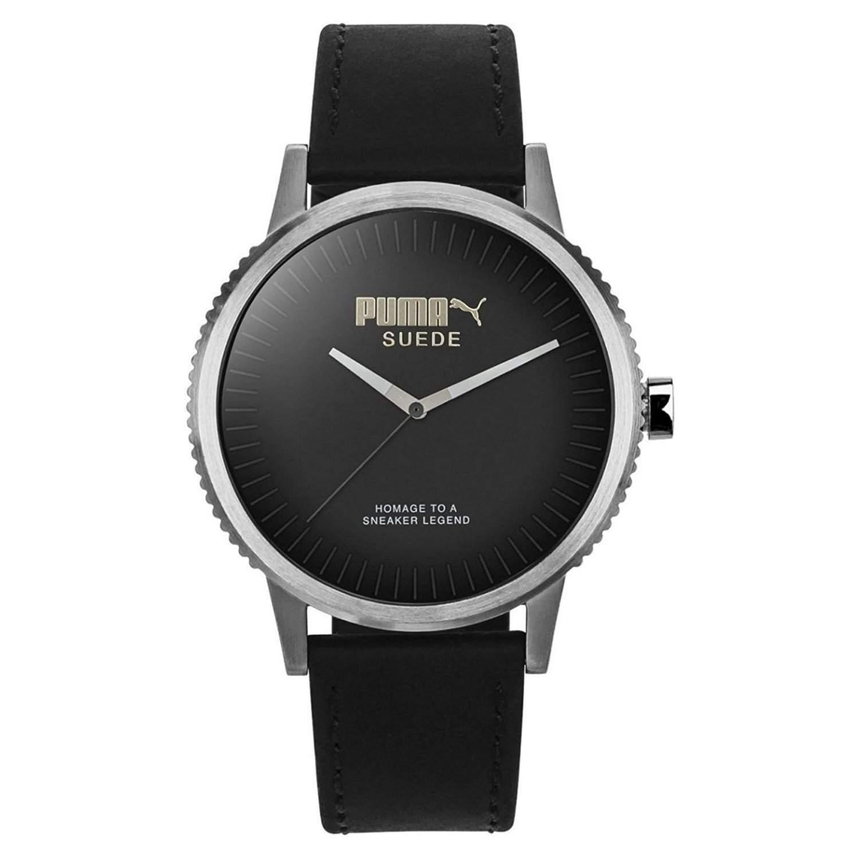 Puma Time Unisex-Armbanduhr PU-SUEDE - limited edition Analog Quarz Leder PU104101001